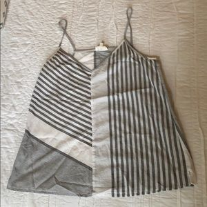 LOFT Striped Linen Blend Cami